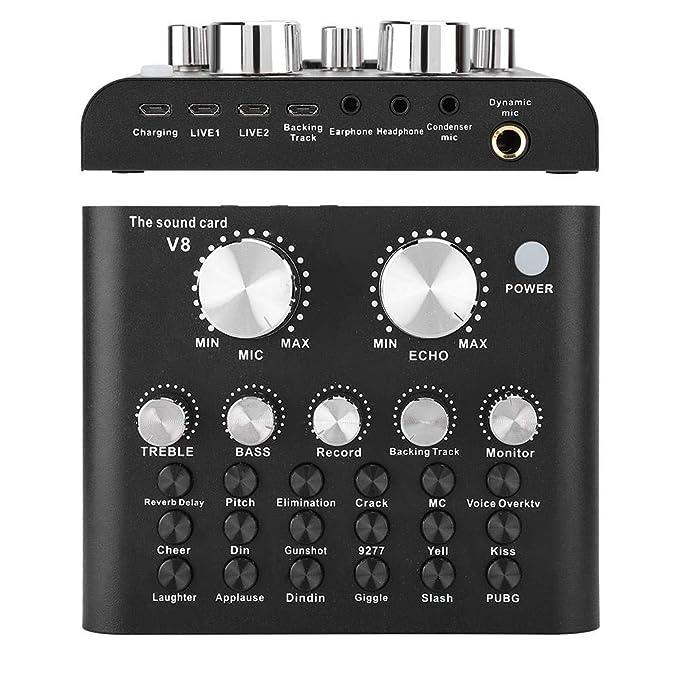 Tarjeta de sonido Bluetooth, V8 Cambio de voz Computadora del ...