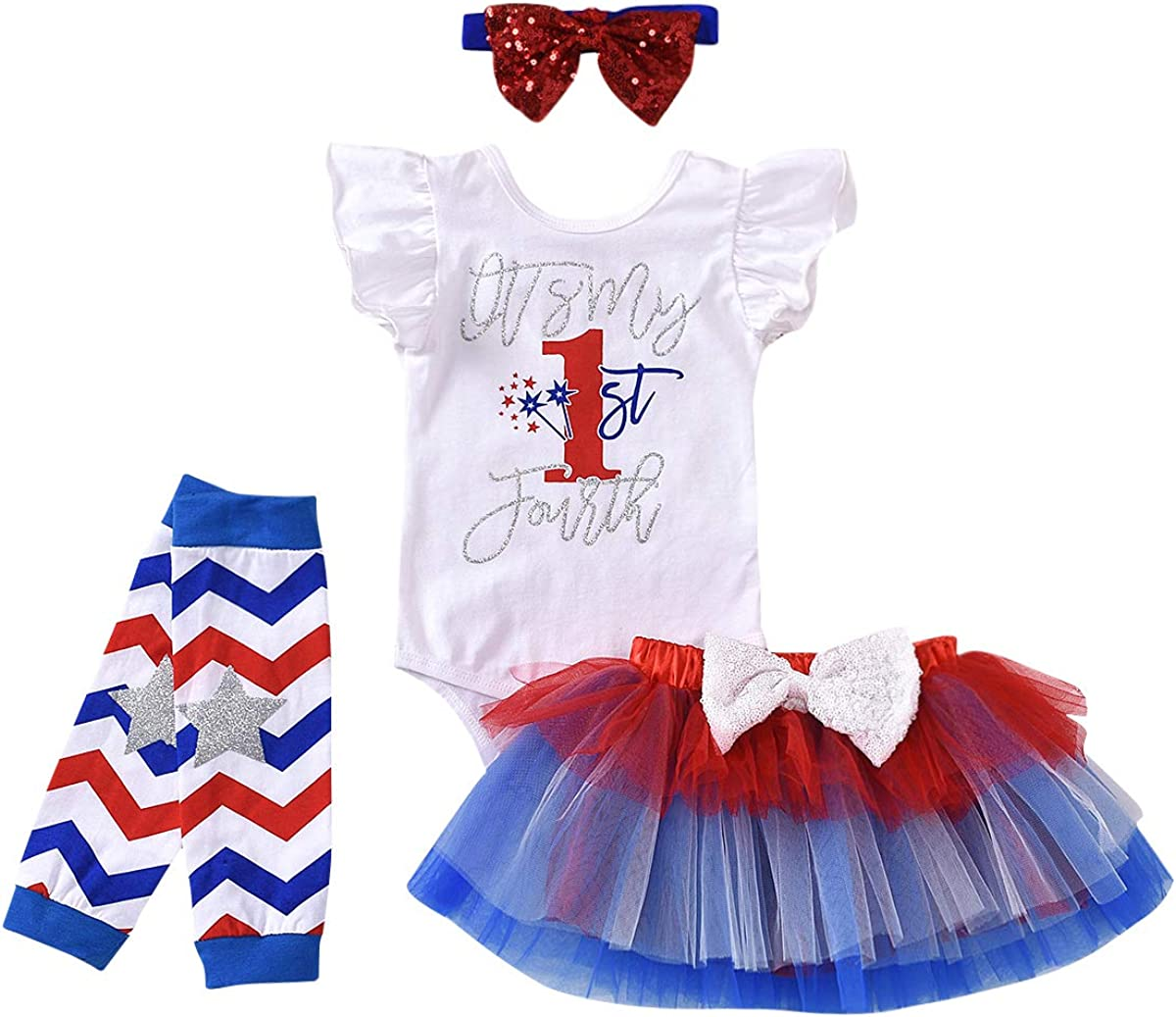 Tutu Bloomers Opt Headband /& Ruffle Bloomer Set First Fourth 1st Independence Day Miss USA 4th of July Outfit Baby Girl Clothes Shirt
