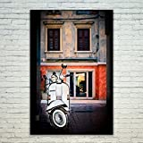 Westlake Art Poster Print Wall Art - Vespa House - Modern Picture Photography Home Decor Office Birthday Gift - Unframed - 5x7in