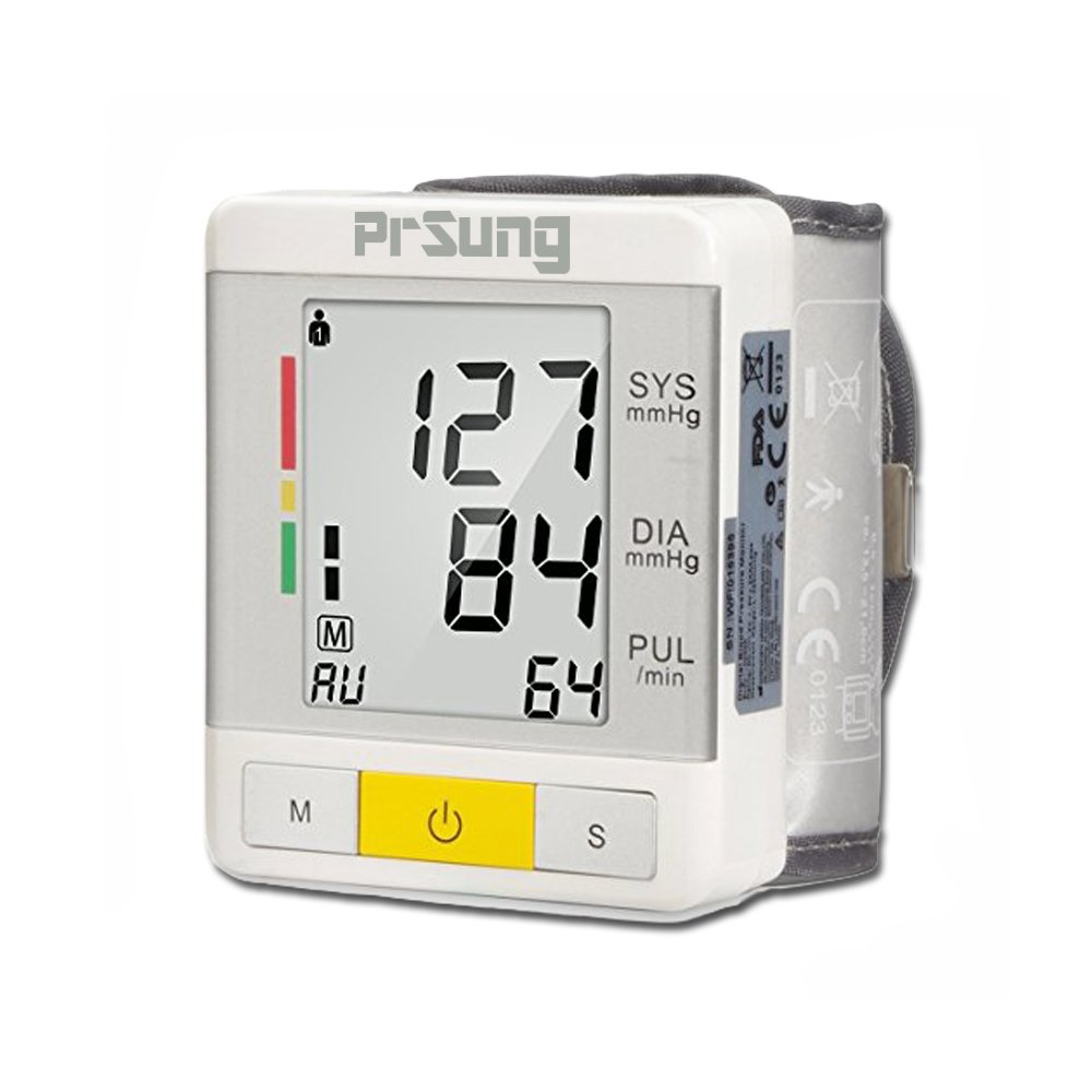 PrSung Wrist Blood Pressure Monitor - FDA Approved - Digital Automatic Blood Pressure Monitors with Case