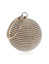 Pearl Evening Bag Party Clutch Round Shape Women's Handbag Wedding Purse for Girls