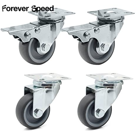 Forever Speed Set de 4 Ø 50mm Ruedas Giratorias de Transporte Ruedas Pivotantes para Carritos Muebles