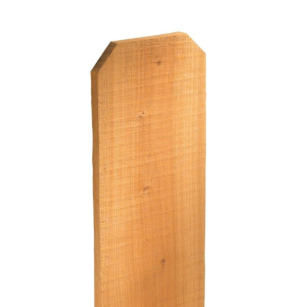 Amazon Com Western Red Cedar Dog Ear Fence Picket 1 In X 6 In X  Pack Garden Outdoor