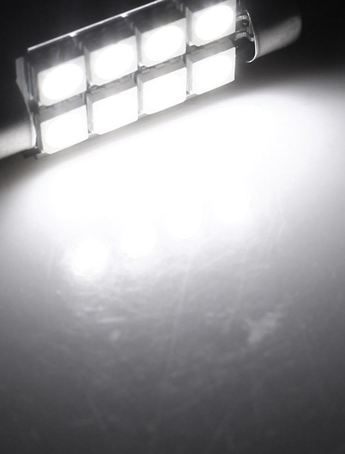 Amazon.com: eDealMax 41mm Blanco 5050 8 LED de la bóveda del Adorno Luz Interior: Automotive