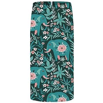 4b0247426 QZBTU Faldas Mujer Faldas Flor Mujer Faldas Coloridas Negras, XL ...