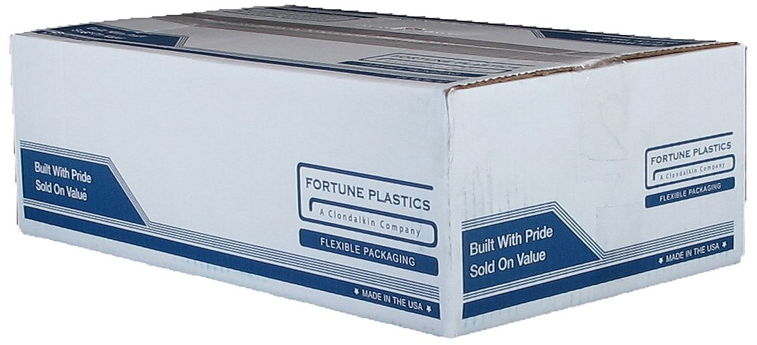 Fortune Plastics DuraLiner Premium LDPE 45 Gallon Waste Can Liner, Star Seal, Rust, 1.5 Mil, 46'' x 40'' (Case of 125)