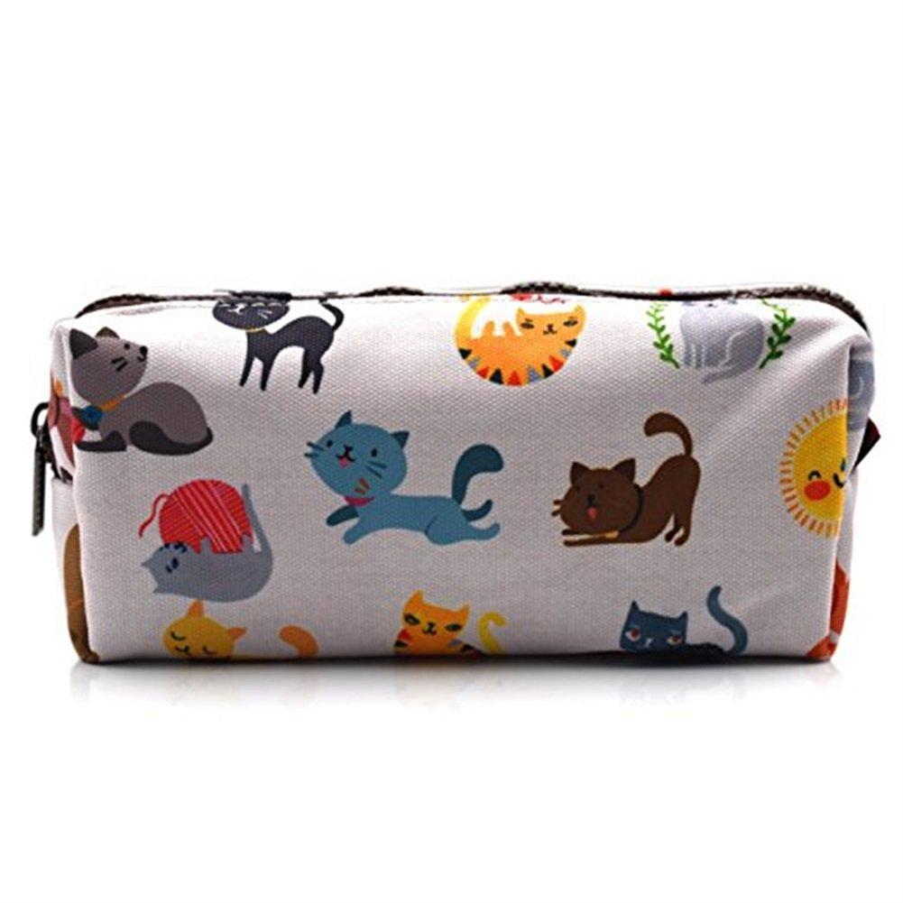 Bell'astuccio con gatti per bambini, ideale come regalo per l'insegnante, sacchetto portaoggetti, borsetta per il trucco ideale come regalo per l' insegnante LParkin