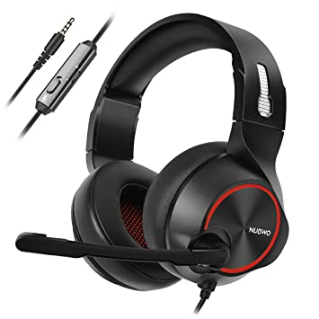 NUBWO Gaming PS4 Casco, N11 Xbox One Estéreo Micrófono con Cancelación del Ruido, Audífonos