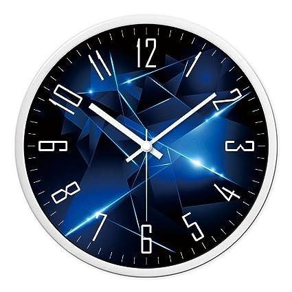 JJD Reloj De Pared Reloj De Dibujo Creativo Moderno Dormitorio Silencio Relojes Elegantes Y Sencillas De