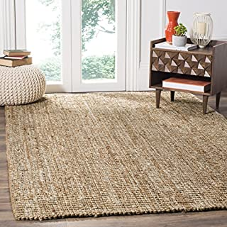 Safavieh Natural Fiber Collection NF447N Hand Woven Natural and Ivory Jute Area Rug (6' x 9') (B018HUFTWS) | Amazon price tracker / tracking, Amazon price history charts, Amazon price watches, Amazon price drop alerts