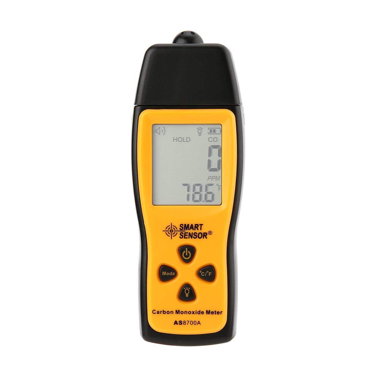 Losenlli Medidor de Monóxido de Carbono de Mano Portátil CO Detector de Fugas de Gas Analizador de Gas Detector de Alta Precisión Monitor de Gas Probador ...
