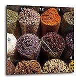 3dRose Danita Delimont - Food - UAE, Dubai, Deira. Spice Souk, Arabic spices - 15x15 Wall Clock (dpp_277114_3)