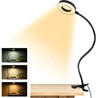 Clip on Light Reading Lights , 48 LED USB Desk Lamp with 3 Color Modes 10 Brightness, Eye Protection Book Clamp Light…
