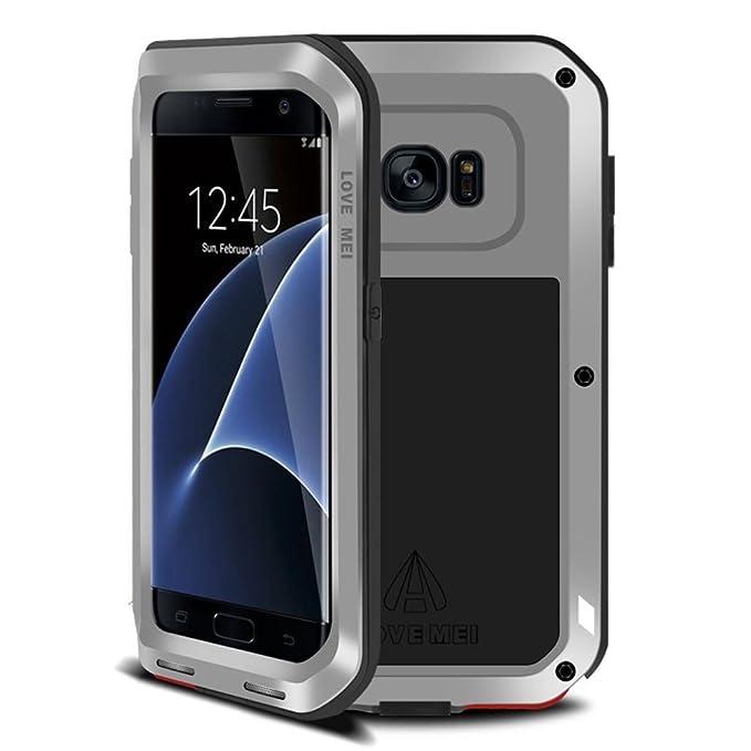 3 opinioni per Cover corazzata per Samsung Galaxy S7Edge, con bumper in metallo resistente,