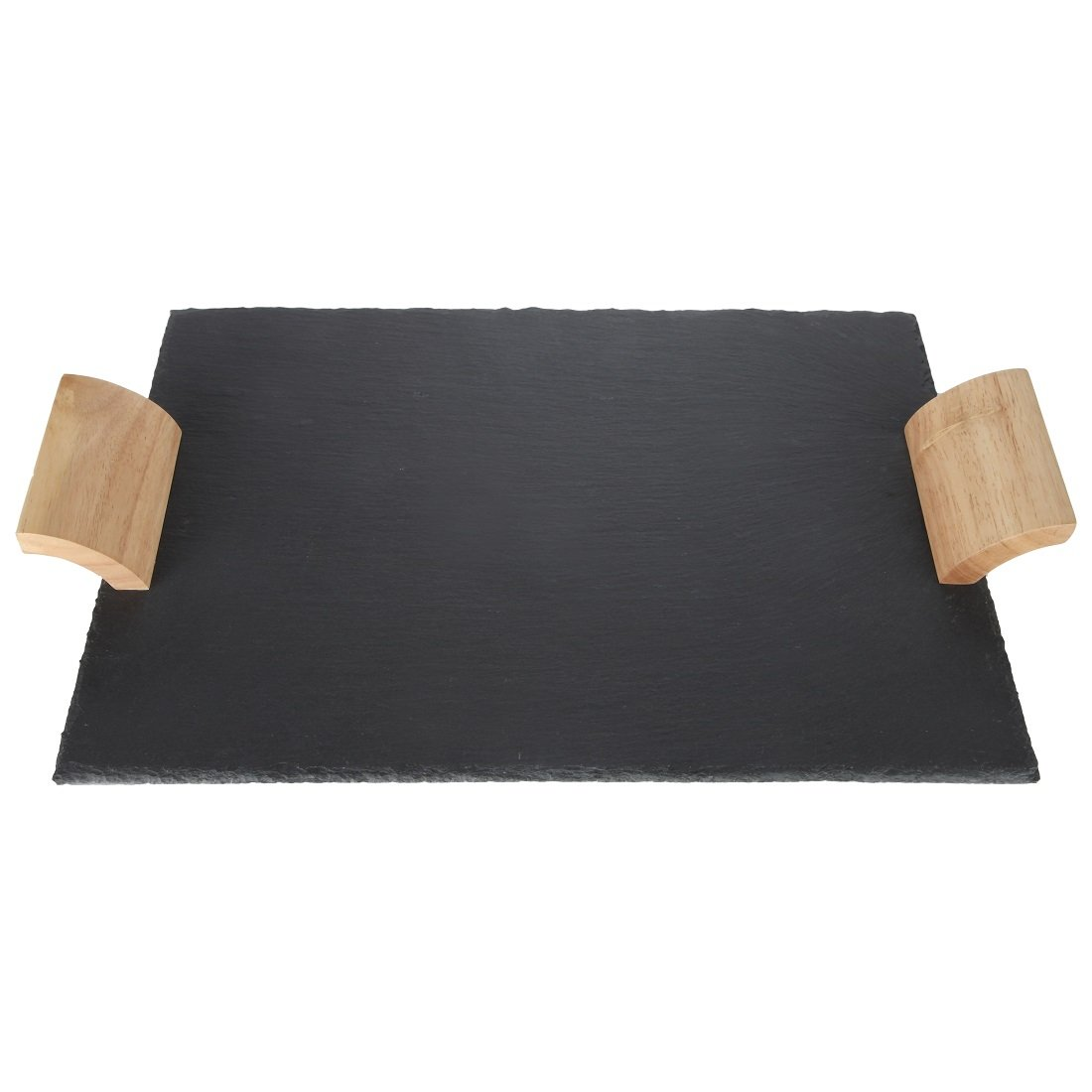 Lily's Home Rustic Slate Cheese Board with Wooden Handles and Chalk, Cheese Tray, 16 X 12 Inch. by Lily's (Image #2)
