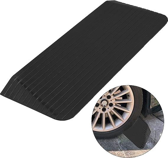 Wheel Assist Ramp DJSMxpd Heavy Duty Rubber Curb Ramps Kerb Ramps L40W50H19cm Wheelchair Threshold Ramp