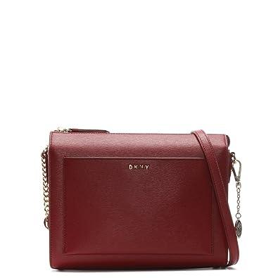 41fb33fb3679 DKNY Sutton Scarlet Leather Box Cross-Body Bag  Amazon.co.uk  Shoes   Bags