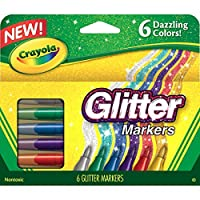 Crayola - Glitter Markers, (6 Count) (2 Pack)