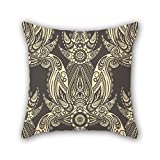 PILLO pillowcase of flower 16 x 16 inches / 40 by 40 cm,best fit for wife,bench,dining room,deck chair,him,couples two sides