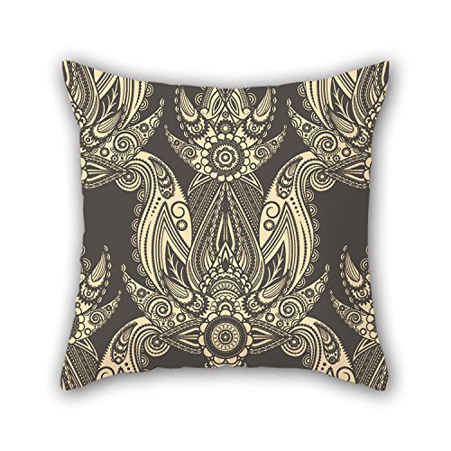 PILLO 18 X 18 Inches / 45 By 45 Cm Flower Throw Cushion Covers,2 Sides Is Fit For Dining (Major Egyptian Gods)