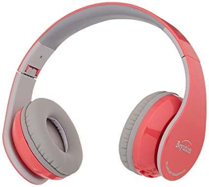 82def554f9e Amazon.com: New Pink Color Beyution513@ Over-Ear- HiFi Stereo-Built in  Clear Mic-Phone-Pink Bluetooth V4.1 Headphones Headset: Home Audio & Theater