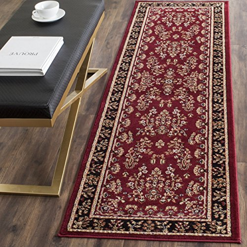 Safavieh Lyndhurst Collection LNH331B Traditional Oriental Red and Black Runner (2
