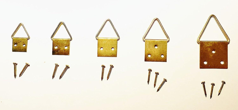 20 x 10 mm 50 St/ück Bilder-Klapp/ösen N/ägel // Bilderhaken // Bildaufh/änger // Bildhaken Gr/ö/ße w/ählbar Gr/ö/ße 1 inkl