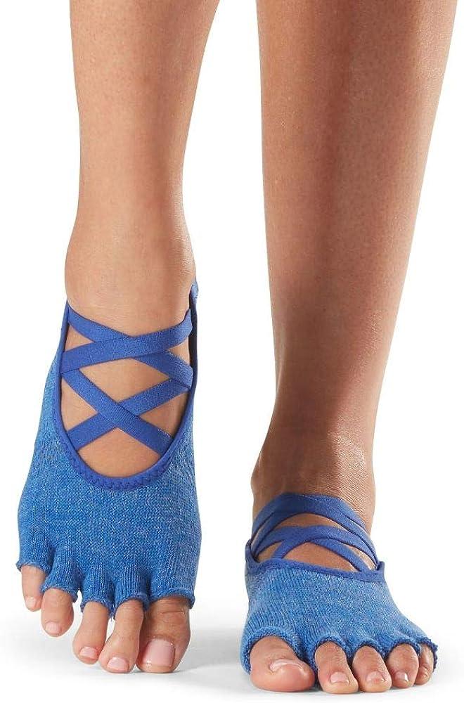 ToeSox Grip Pilates Barre Socks Non Slip Elle Half Toe for Yoga /& Ballet