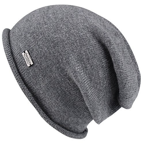 FURTALK Women Cable Knit Wool Cashmere Ribbed Beanie Winter Slouch Braided Baggy Winter Hat