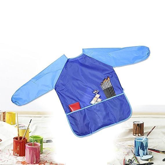 Youkara 2 PC Delantales para Niños Ropa de Pintura para Arte Kindergarten Ropa para Dibujar Batas Impermeables Ropa Antidesgaste para Bebés: Amazon.es: ...