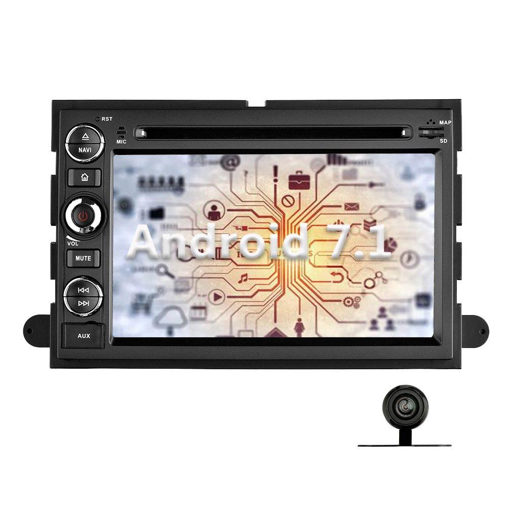 YINUO 7インチAndroid 7.1.1 Nougat 2 GB RAM Quad CoreカーステレオHDタッチスクリーン車ラジオ受信機DVD GPSナビゲーションforフォード500 / f150 /エッジ/ Explorer / Expedition /マスタング B071H2DLWZ