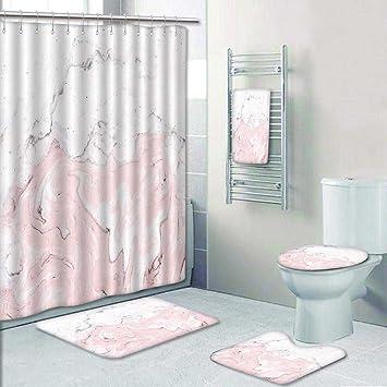 Vroselv 5tlg Badezimmer Set Hintergrund Bemalt Marmor Textur Acryl