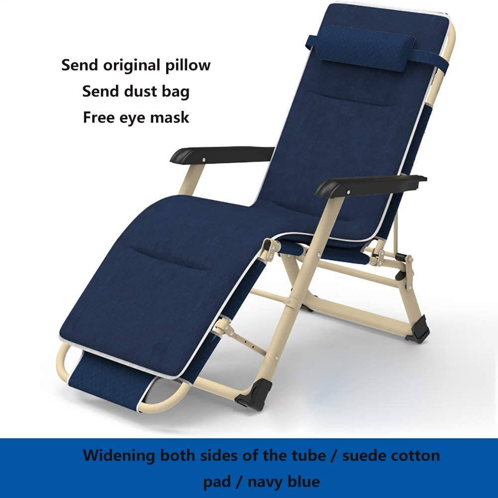 WYXR Sun chairs and loungers, Folding Sun Lounger Chair with Adjustable Padded Headrests, sunloungers for Garden Terrace,A D