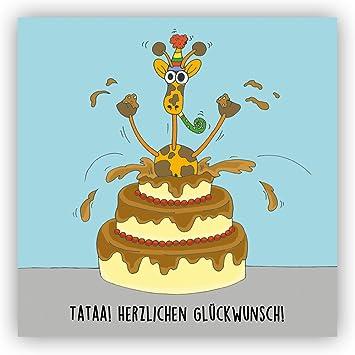 Postkarte Tataa Herzlichen Gluckwunsch Nachtraglich Geburtstag