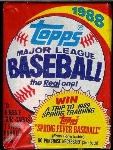 1988 Topps Baseball Cards Unopened Hobby Pack 15 Cards Per