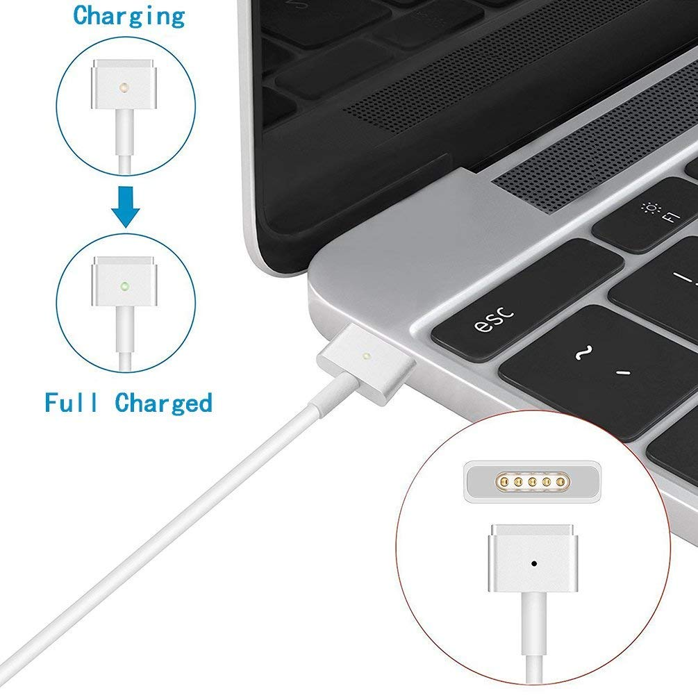 Dodaug Macbook Air Charger Replacement 45w T Tip Ac 5 Way Switch Wiring Diagram Hhh Magsafe 2 Power Adapter For 11 Inch And 13 Home Improvement