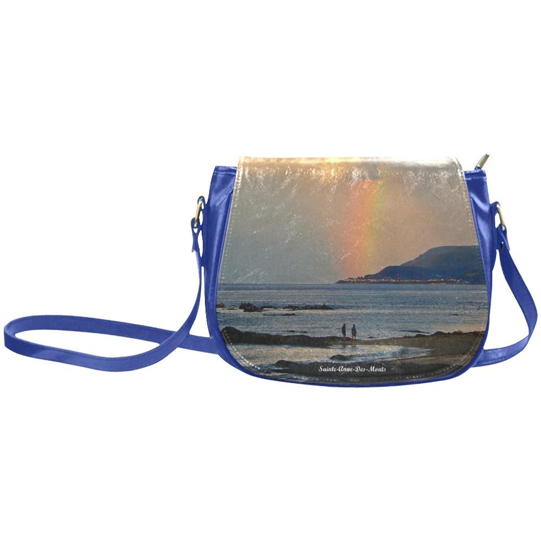Find Arts Custom Saddle Bag Rainbow Walk Classic Saddle Bag Crossbody Bag Small