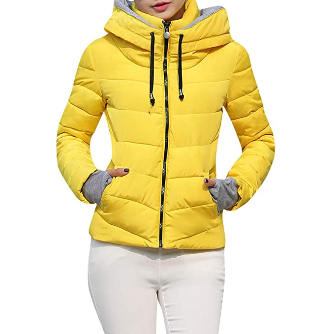 Yvelands Mujer Abrigos Gruesos Abrigo con Capucha Chaquetas Acolchadas y de algodón Delgadas Abrigos Tops Blusa