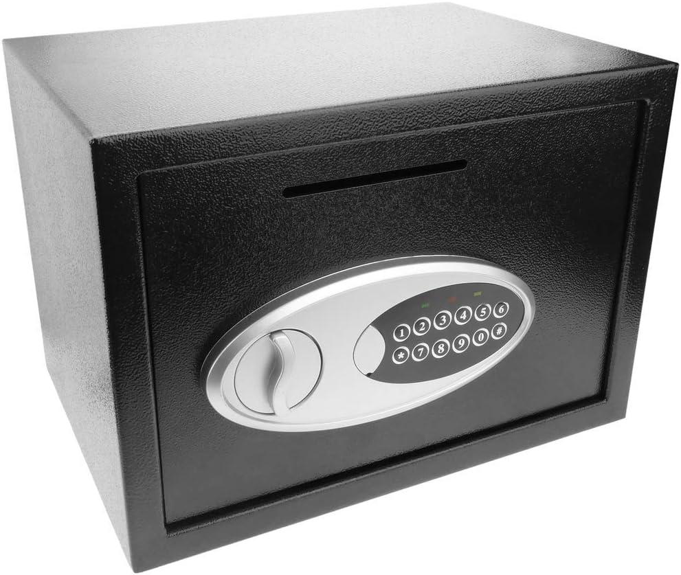 PrimeMatik - Caja Fuerte de Seguridad de Acero con Llaves y Ranura ...