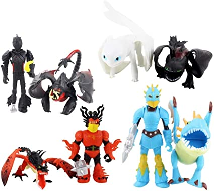 How To Train Your Dragon Action Figure Model Toothless Fury Toys For Kids 8pcs