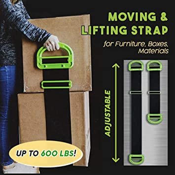 Adjustable Moving Straps,Heavy Lifting Straps for Construction Materials Carrying Straps for Moving Furniture,Boxes,Mattress Moving Straps Lifting Furniture Lifter Belt and Movers Shoulder