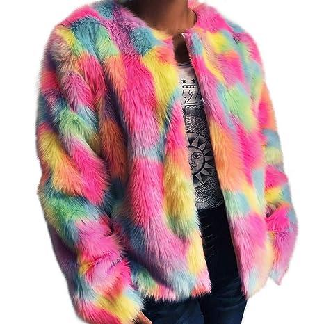 Mujer y Niña abrigo otoño Invierno fashion fiesta,Sonnena ❤ Abrigo esponjoso de mujer