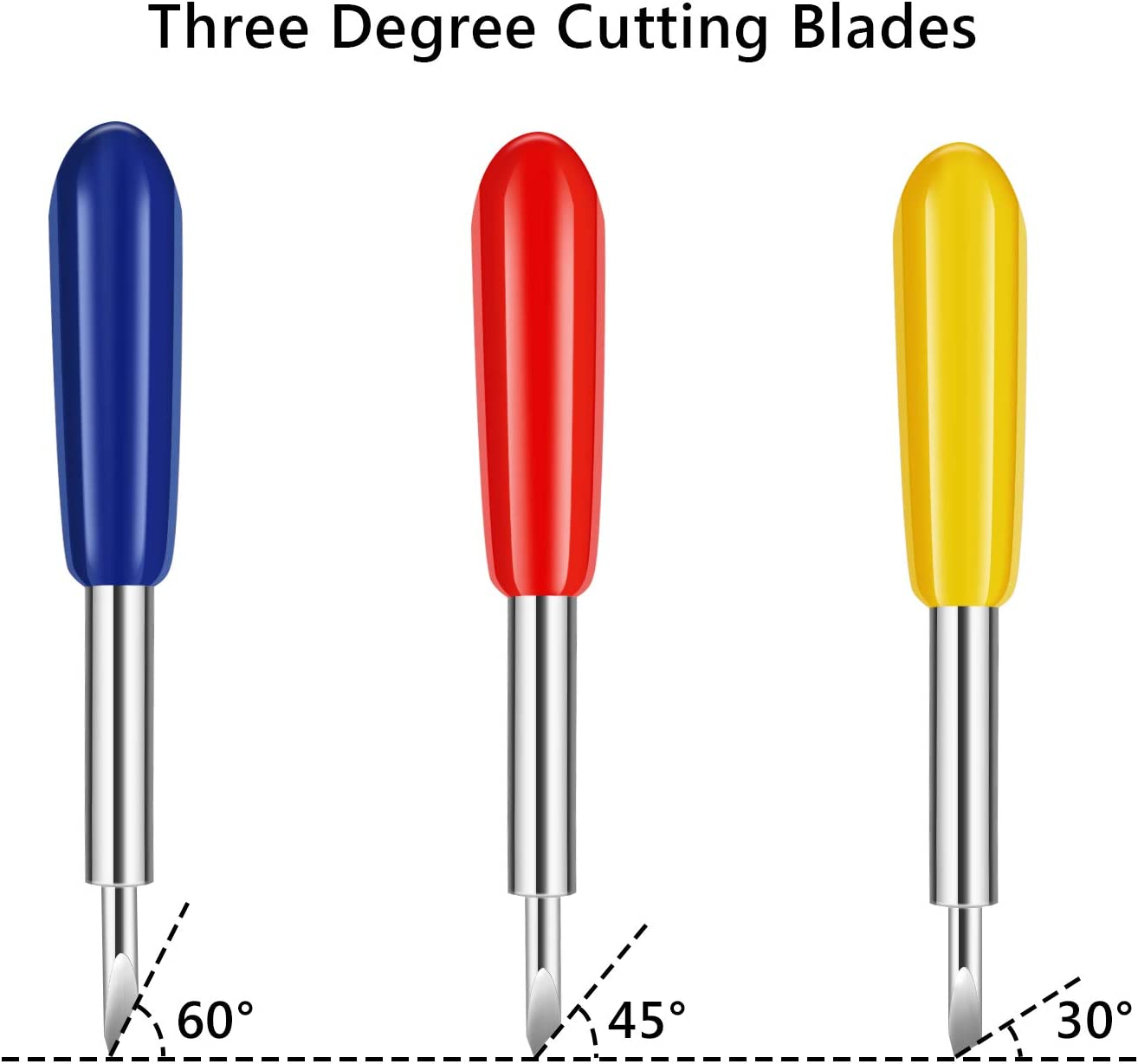 Vinyl Cutting Blades Enpoint 30 PCS Cutting Blades for Cricut Explore Air//Air 2 Maker Expression 30//40//60 Degree Cutting Plotter Blade Deep Cut Vinyl Fabric Cutting Replacement Blades