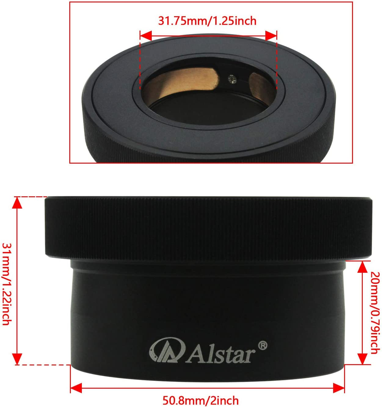 2 Twist-Lock Adapter Firmly and Gently Holds and centres Your eyepieces Alstar 1.25