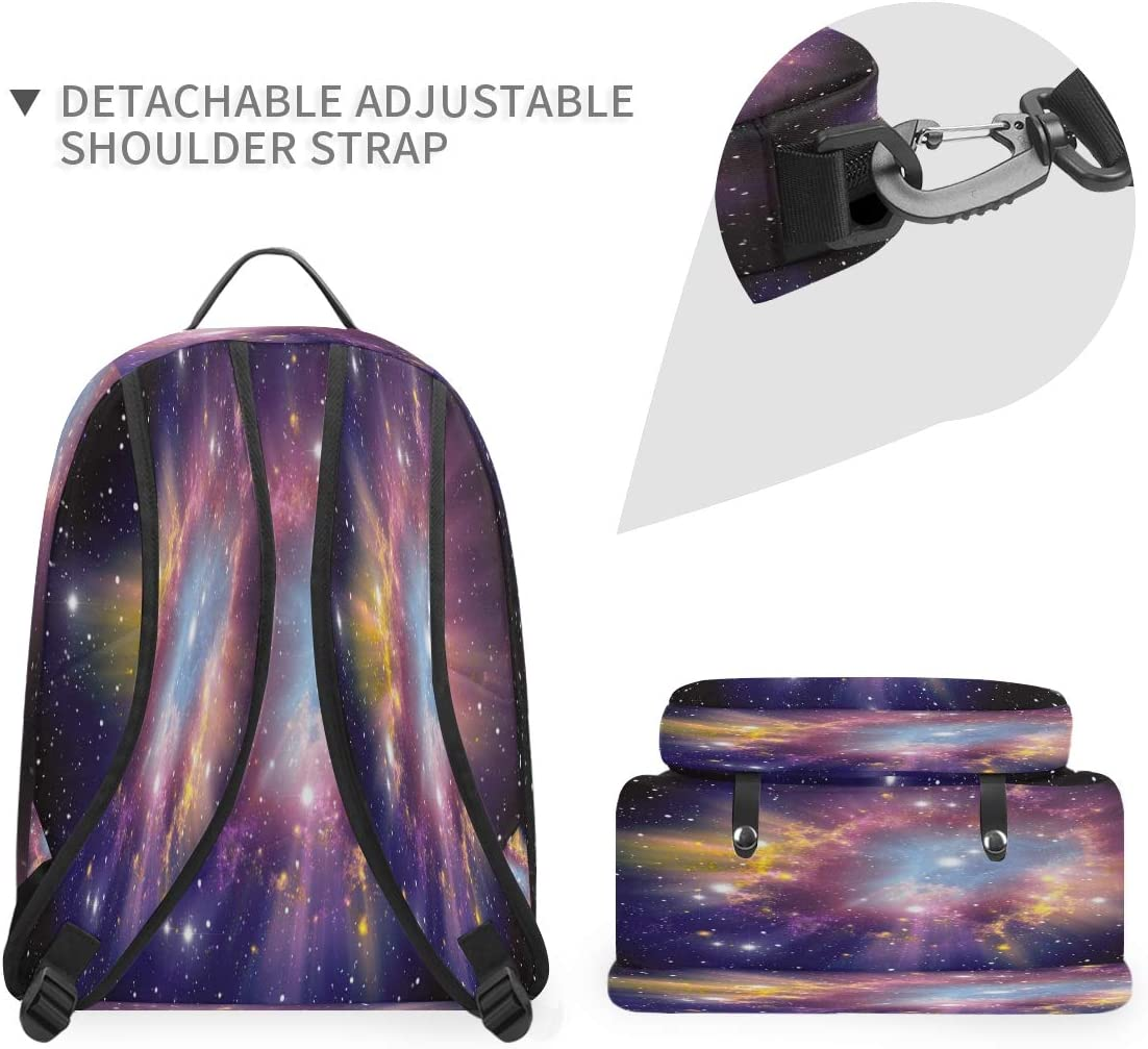 Laptop Backpack Lightweight-Universe Galaxy Travel Casual Daypack Computer Bag for Women Men College Students