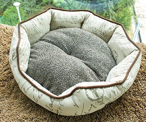 Merax Cat Dog Beds Pet Bed Mat Cushion Sofa Beige