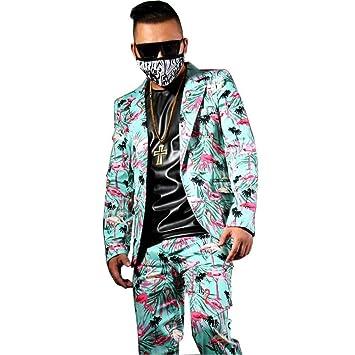 GFRBJK Moda de Hombre Traje Casual Conjuntos (Chaqueta + Pantalón ...