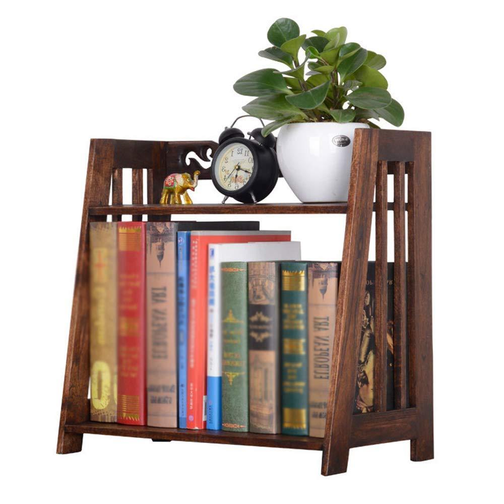 tienda de venta en línea ZHAS Estantería sólido Wood Desktop Student Small 46 46 46  23  41cm  el estilo clásico