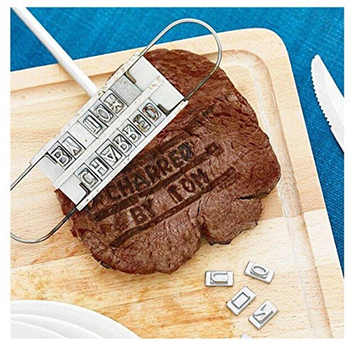 Rambling BBQ Branding Mold, Creative Barbecue Branding Iron Tool Barbecue Baked with Changeable Letters by Rambling