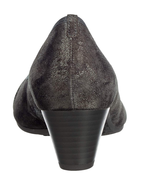 Gabor 96.183-96 Damen klassischer Pumps aus Lederimitat Lederimitat aus Wechselfußbett Dunkelgrau 4121ae
